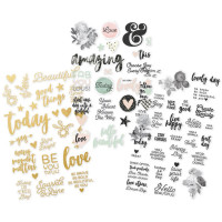 "Набор наклеек Beautiful Stickers 4""X6"" 3/Pkg от Simple Stories"