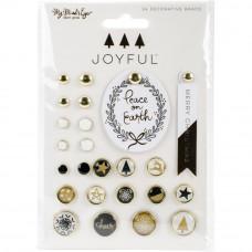 Набор декоративных брадсов Joyful  My Minds Eye